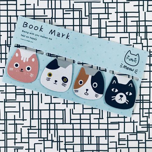 Boekenlegger | Magnetisch | Katten | 4x
