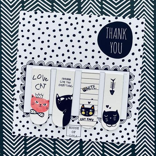 Boekenlegger | Magnetisch | Katten | Casual Cats | 4x