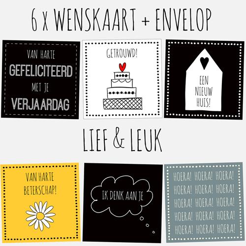 HOUSE OF LOLA | set kaarten | lief & leuk