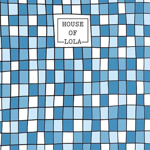 achterkant kaart | mozaïek | blauw | jarig