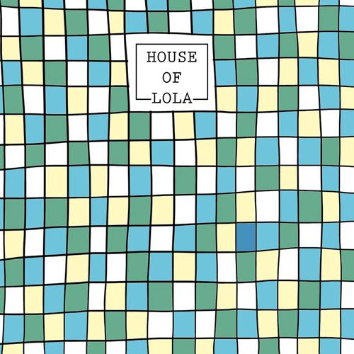 achterkant kaart   mozaïek   groen   feest
