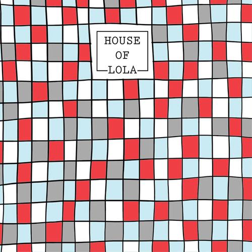 achterkant kaart | mozaïek | rood | hoera