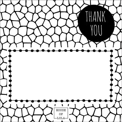 bedankkaartje   HOUSE OF LOLA   thank you   kader en mozaiek