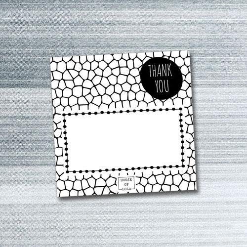 bedankkaartje | HOUSE OF LOLA | thank you | mozaiek