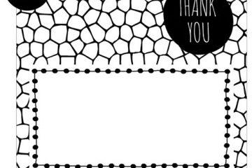 bedankkaartjes | HOUSE OF LOLA | thank you | kader en mozaiek | 25x