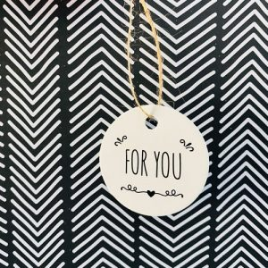 cadeaulabel | for you | rond