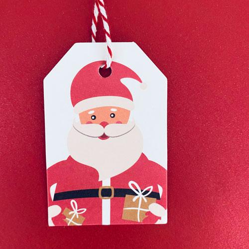 cadeaulabel | kerst | kerstman