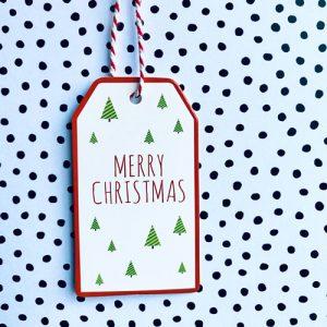 cadeaulabel | kerst | merry christmas