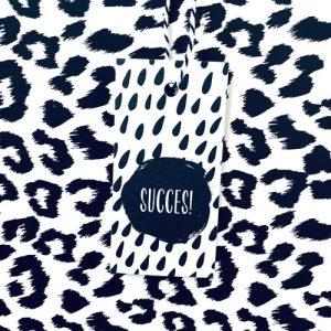 cadeaulabel | succes | zwart-wit