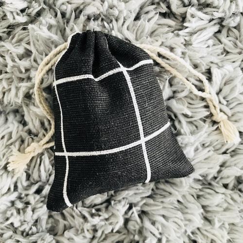 cadeauzakje | zwart-wit | geruit