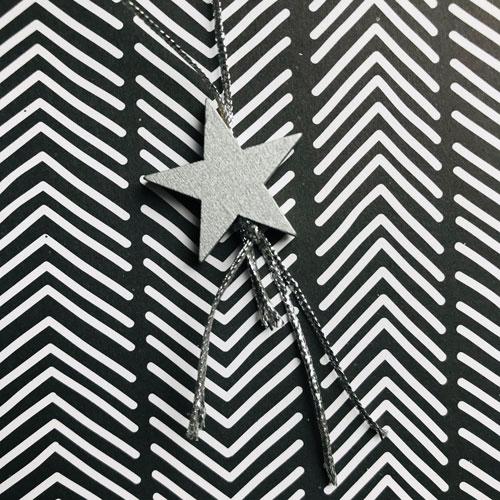 houten hanger | ster | zilver