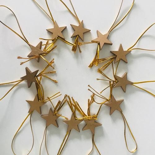 houten hangers | ster | goud