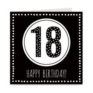 verjaardagskaart: 18 jaar