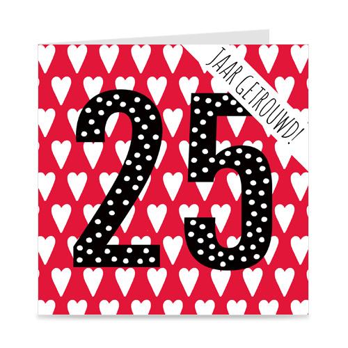 jubileum: 25 jaar getrouwd