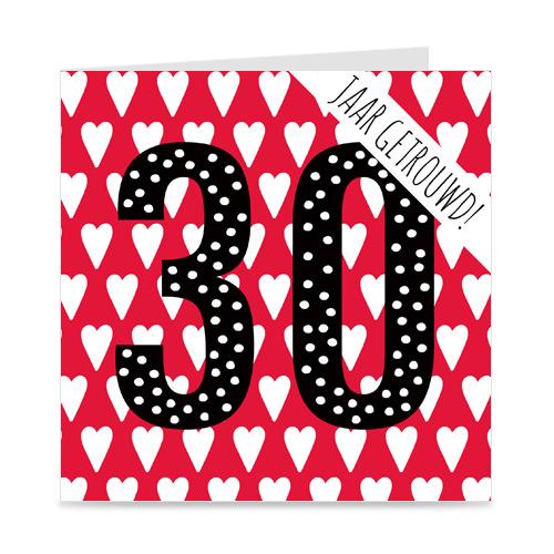 jubileum: 30 jaar getrouwd