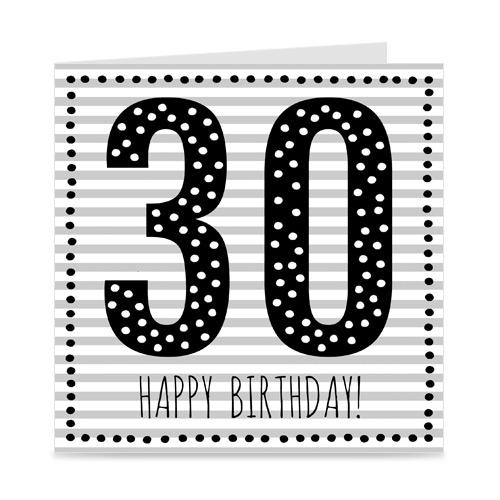 verjaardagskaart: 30 jaar