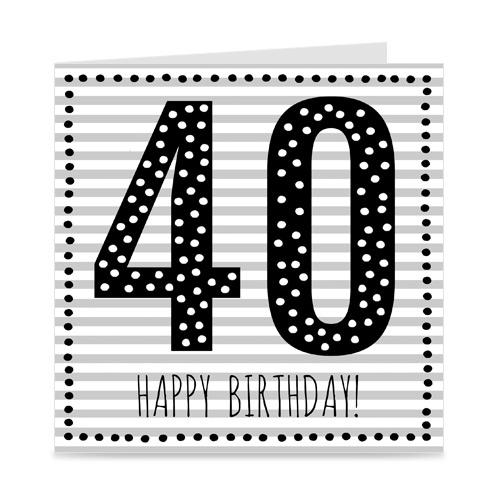 verjaardagskaart: 40 jaar