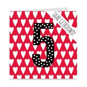 jubileum: 5 jaar getrouwd