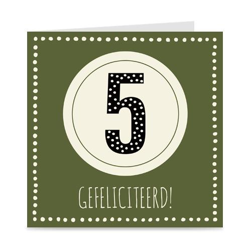 verjaardagskaart: 5 jaar