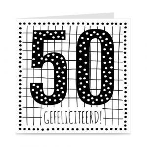 verjaardagskaart: 50 jaar
