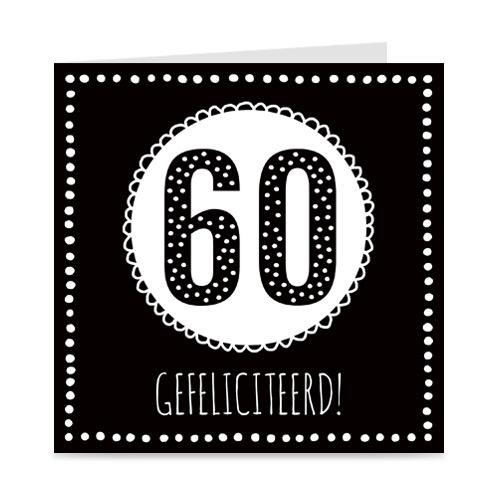 verjaardagskaart: 60 jaar
