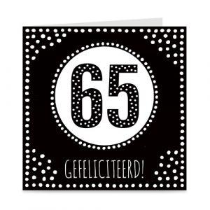 verjaardagskaart: 65 jaar