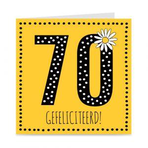 verjaardagskaart: 70 jaar