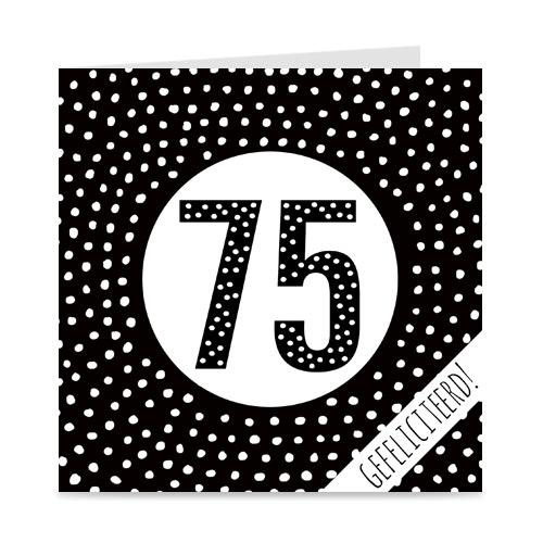 verjaardagskaart: 75 jaar