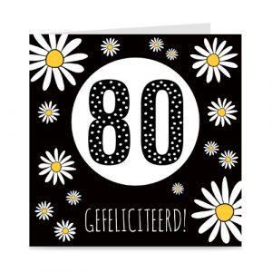 verjaardagskaart: 80 jaar