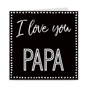 kaart: I love you papa
