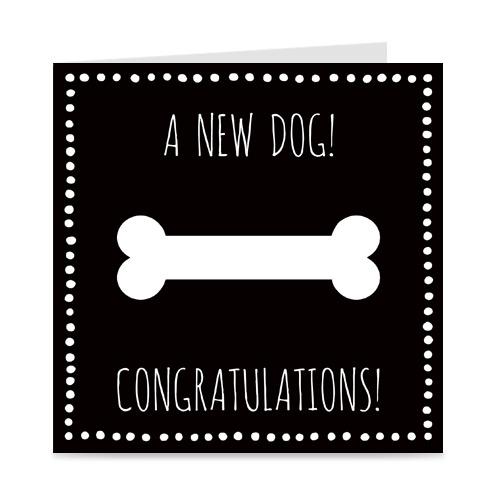 kaartje voor de nieuwe hond: a new dog!