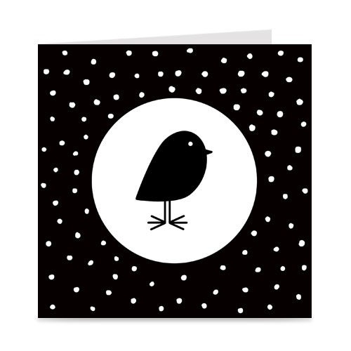 kaart | blanco | bird and dots