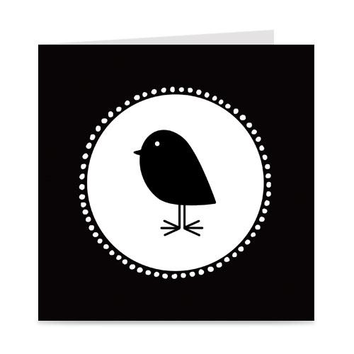kaart | blanco | bird