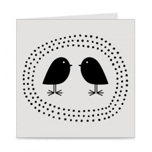 kaart | blanco | birds and dots