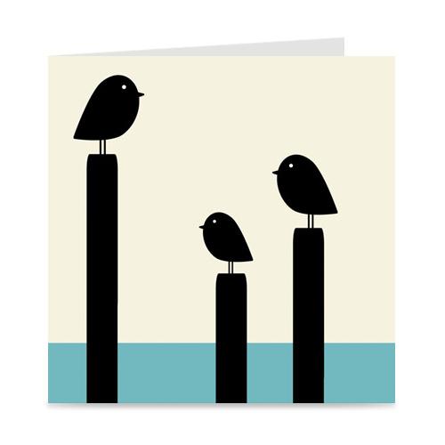 kaart | blanco | birds at sea