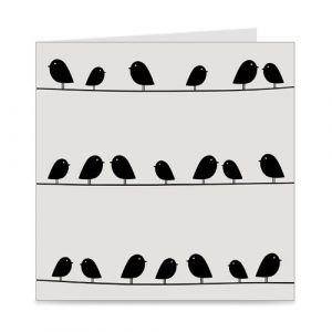 kaart | blanco | birds on a wire