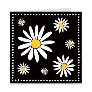 blanco kaart met bloemen