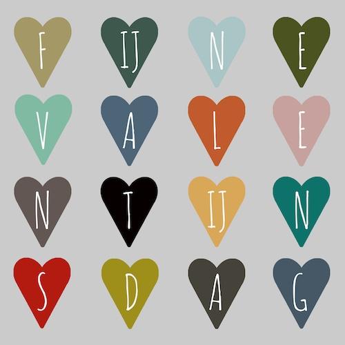 kaart: fijne Valentijnsdag