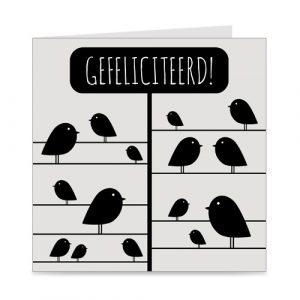 kaart | gefeliciteerd | birds