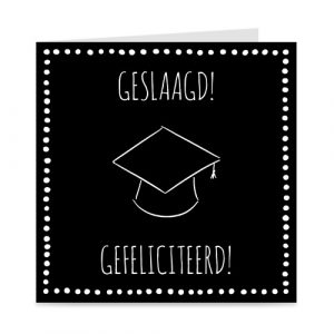 kaartje: geslaagd, met graduation cap