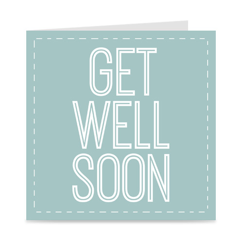 kaartje: get well soon