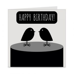kaart | happy birthday | birds