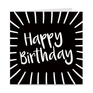 kaart | happy birthday | shine