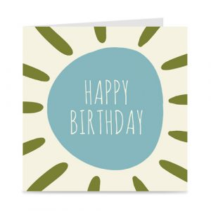 kaart | happy birthday | zon