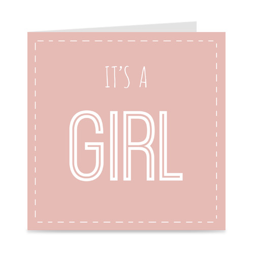 geboortekaartje: it's a girl