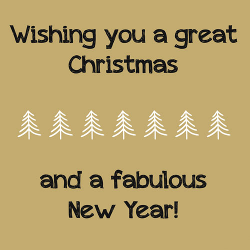 kaart | kerst | great christmas & fabulous new year