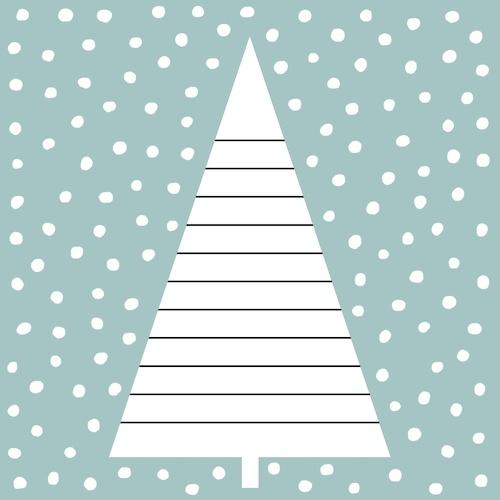 kerstkaart met kerstboom