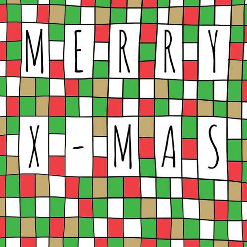 kaart | kerst | mozaïek | merry x-mas