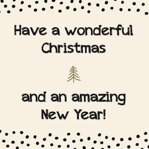 kaart | kerst | wonderful christmas & amazing new year