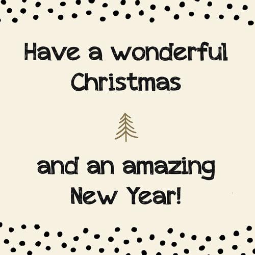 kaart   kerst   wonderful christmas & amazing new year